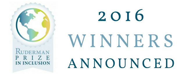 Announcing the 2016 Ruderman Prize in Inclusion Winners!