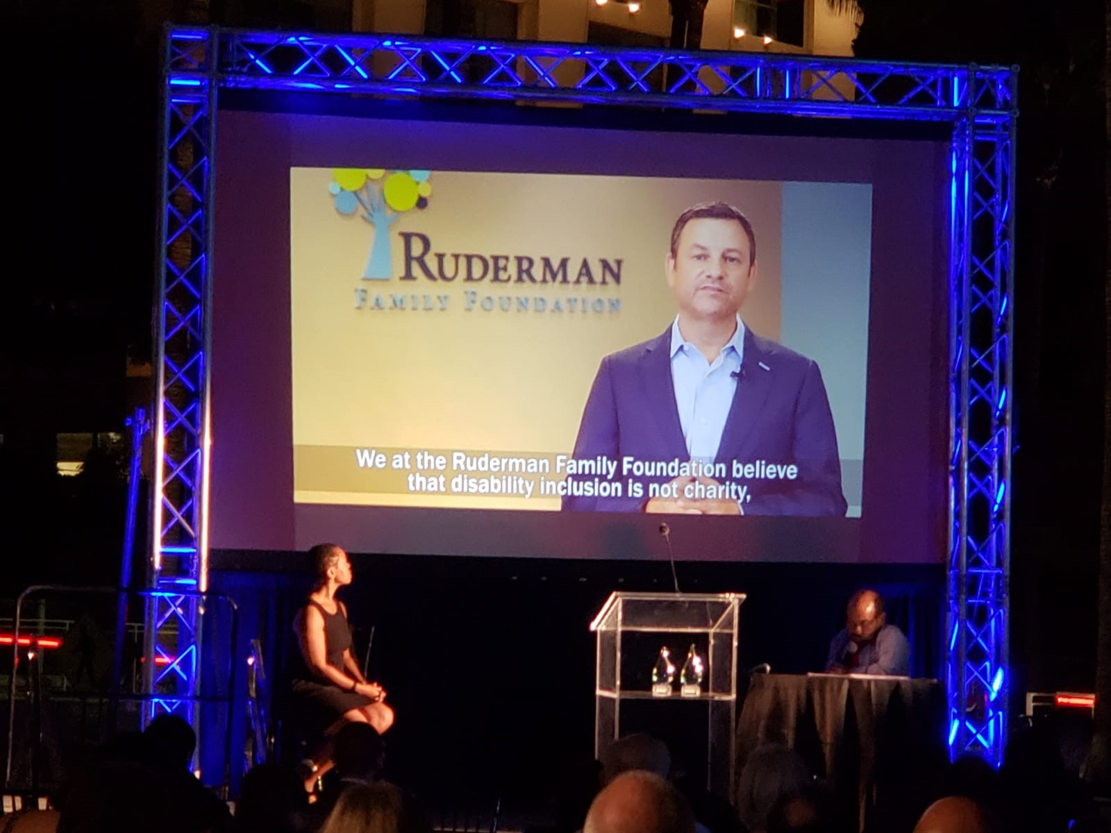 The Chuck Siegal President Award Received by the Ruderman Family Foundation