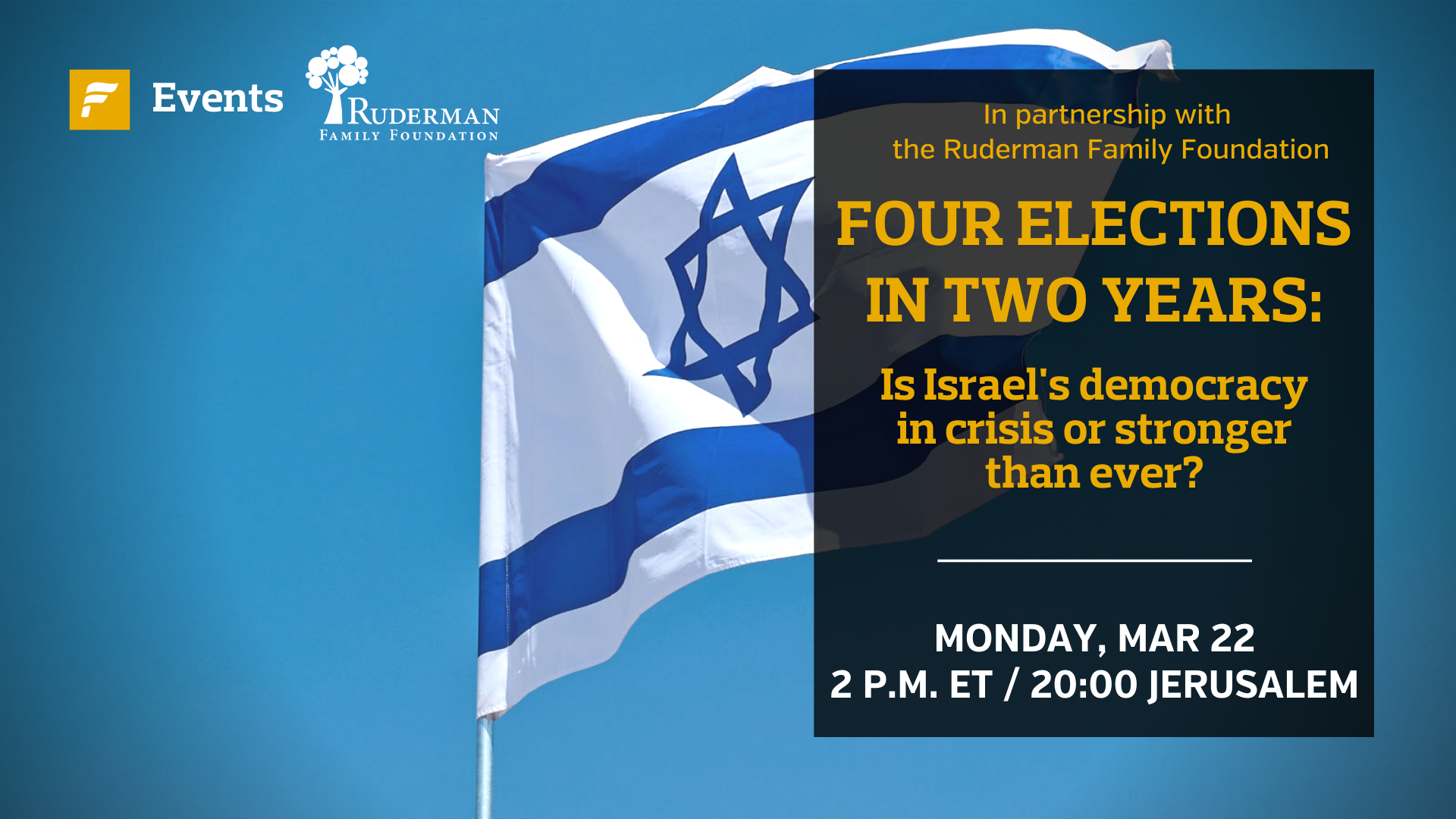 Israeli Elections panel in collaboration with The Forward