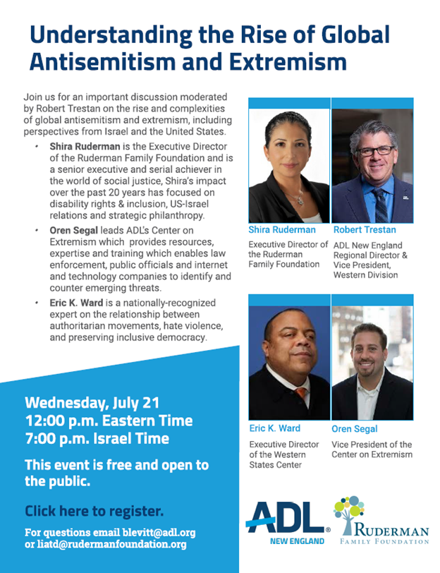 Understanding the rise of global Antisemitism and extremism – A joint event with ADL